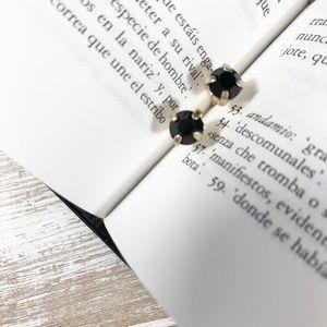 BLACK DIAMOND TINY STUD EARRINGS